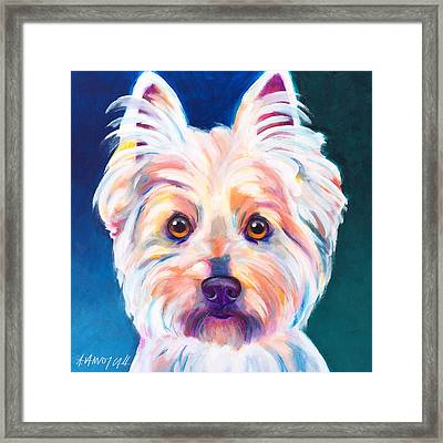 West Highland White Terrier - Rockette Framed Print