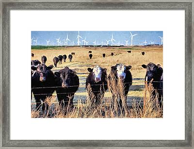 Framed Print featuring the digital art West Kansas Economics by JC Findley