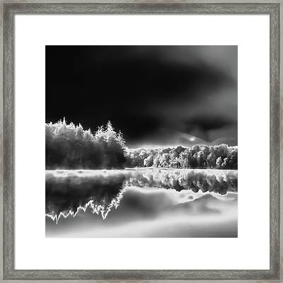 Framed Print featuring the photograph West Lake Backlit by David Patterson
