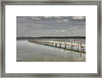 West Lake Docks Framed Print by Gary Gunderson