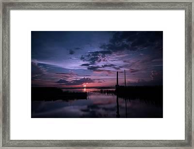 West Lake Toho Blu Indigo Sunset Framed Print