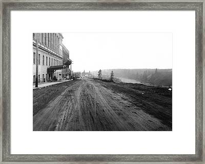 West Main Avenue - Peaceful Valley - Spokane 1918 Framed Print