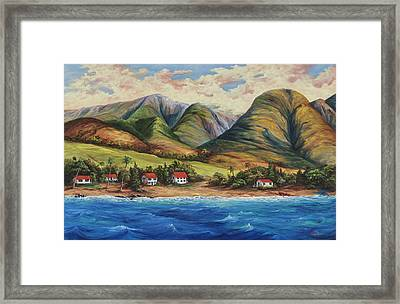 Framed Print featuring the painting West Maui Living by Darice Machel McGuire