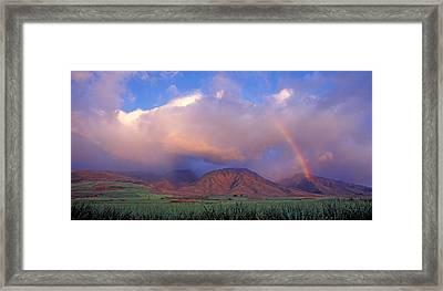 West Maui Rainbow Framed Print