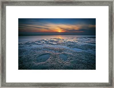 West Meadow Beach Afterglow Framed Print by Rick Berk