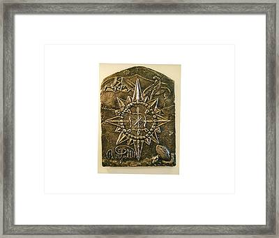 West Meets Southwest Compass Rose Framed Print by Thor Sigstedt