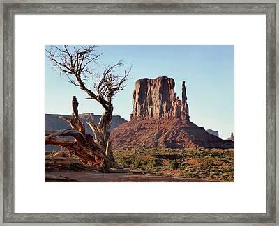 West Mitten Butte Framed Print by Gordon Beck