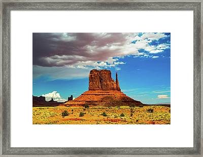 West Mitten Under A Monsoon Sky Framed Print