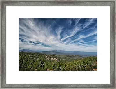 West Of Crater Lake Framed Print by Frank Wilson