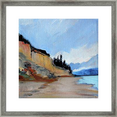 Framed Print featuring the painting West Of Dungeness by Nancy Merkle