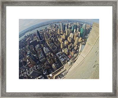 West Of The Empire State Framed Print