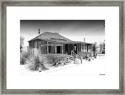West Of The Pecos Framed Print