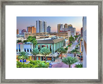 West Palm At Twilight Framed Print