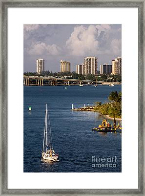 West Palm Beach Skyline 2 Framed Print