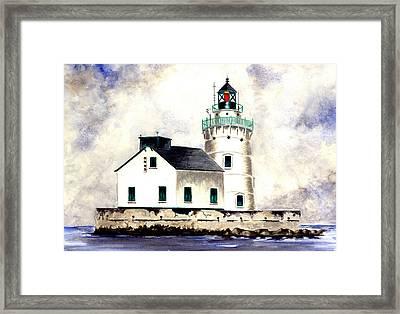 West Pierhead Lighthouse Framed Print by Michael Vigliotti