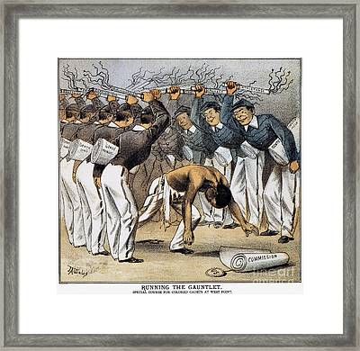 West Point Cartoon, 1880 Framed Print