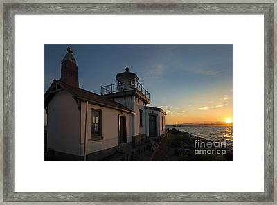 West Point Light Framed Print by Mike Dawson
