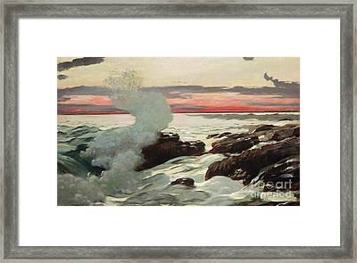 West Point Prouts Neck Framed Print by Winslow Homer