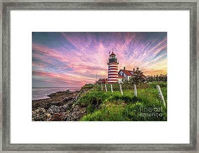 West Quoddy Head Light Framed Print by Benjamin Williamson