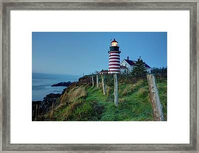 West Quoddy Head Light Framed Print