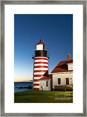 West Quoddy Head Lighthouse Maine Framed Print by John Greim