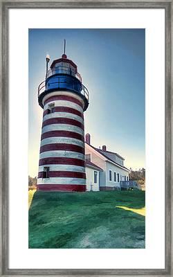 West Quoddy Light Framed Print