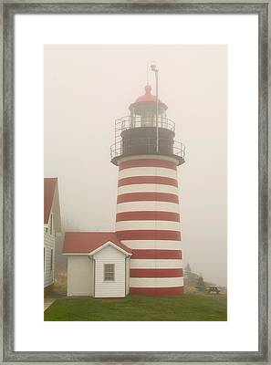 West Quody Head Lighthouse Framed Print by Brent L Ander
