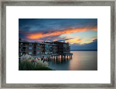 Framed Print featuring the photograph West Seattle Living by Dan Mihai