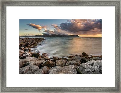 West Shore Sunset Framed Print by Adrian Evans