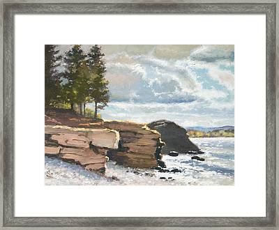 West Shores Presque Isle Framed Print by Larry Seiler