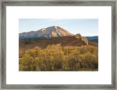 West Spanish Peak Autumn Framed Print by Aaron Spong