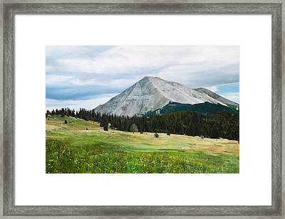 West Spanish Peak In Summer Framed Print by Joshua Martin
