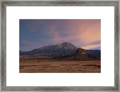 Framed Print featuring the photograph West Spanish Peak Sunset by Aaron Spong