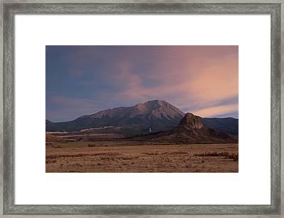 West Spanish Peak Sunset Framed Print by Aaron Spong