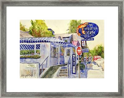 West Street Cafe Framed Print by Shirley Sykes Bracken