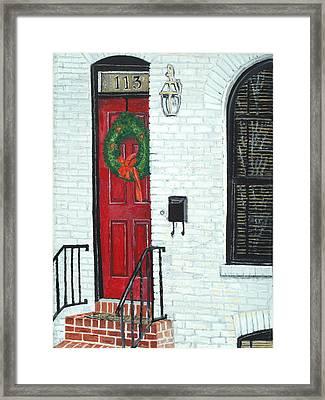 West Street Christmas Framed Print by John Schuller