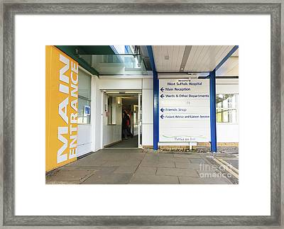 West Suffolk Hospital Framed Print by Tom Gowanlock
