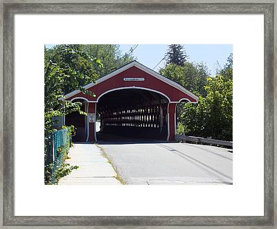 West Swanzey Covered Bridge Framed Print