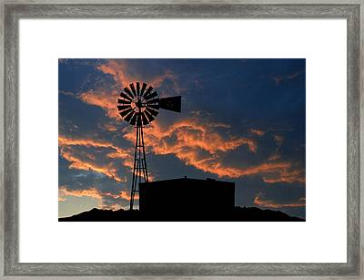 West Texas Cattle Tank Framed Print by Jerry McElroy