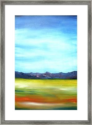 West Texas Landscape Framed Print