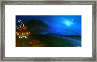 West Texas Moon Framed Print by Jon Paul Price