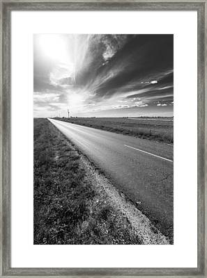 West Texas Road Framed Print by Nathan Hillis
