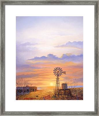 West Texas Sundown Framed Print by Howard Dubois