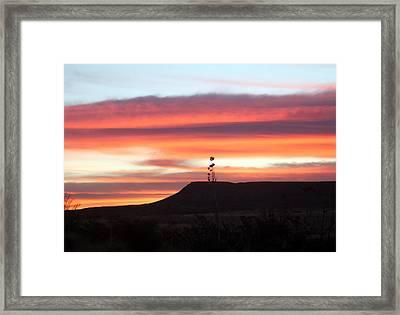Mile Marker 122 West Texas Sunrise Framed Print