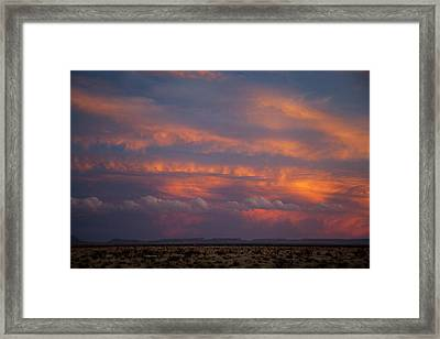 West Texas Sunset #1 Framed Print