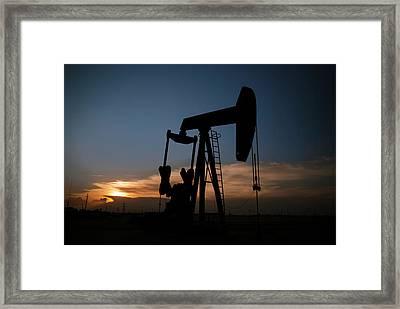West Texas Sunset Framed Print