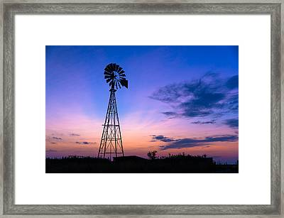 West Texas Windmill Framed Print