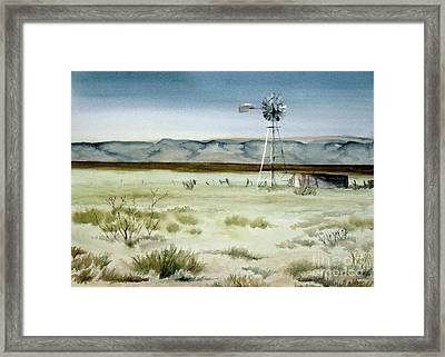 West Texas Windmill Framed Print