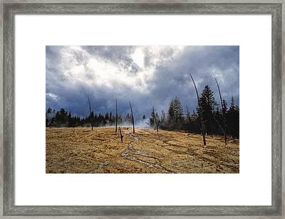 Framed Print featuring the photograph West Thumb Geyser Basin   by Lars Lentz