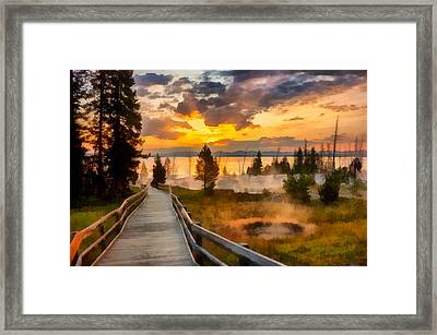West Thumb Sunrise Framed Print